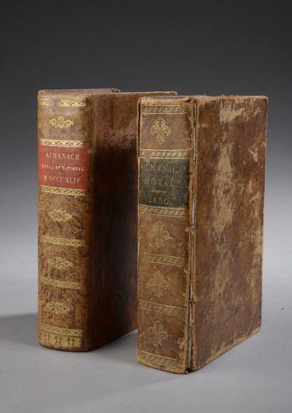 [ALMANACHS].  Ensemble de 2 almanachs comprenant...