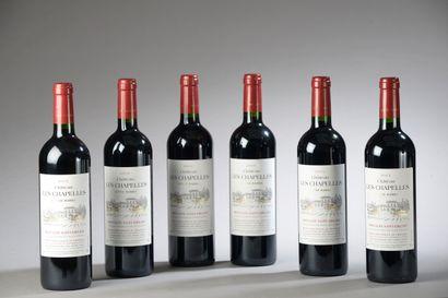 6 bouteilles CH. LES CHAPELLES