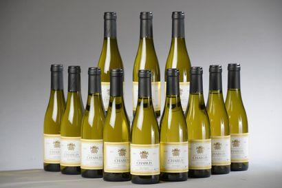 12 demi-bouteilles CHABLIS L. d'Armont 2...