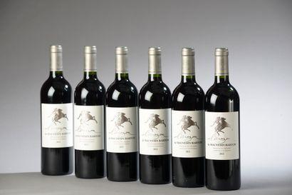 6 bouteilles L'AMAZONE DE MAUVESIN-BARTON,...
