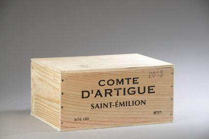 6 bouteilles COMTE D'ARTIGUE, St-Émilion...