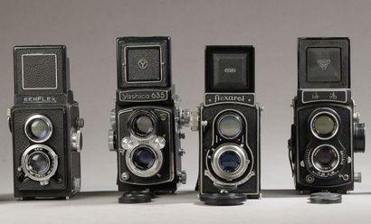 Ensemble de quatre photographiques divers...