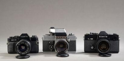 Ensemble de trois appareils Exakta : Exakta...