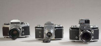 Ensemble de trois appareils photographiques...