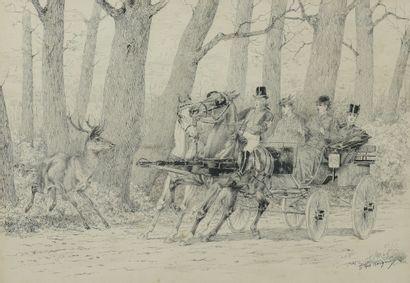 Georges LAROCQUE (France, 1839-1932) Scènes...