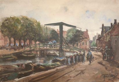 École hollandaise de la fin du XIXe siècle....