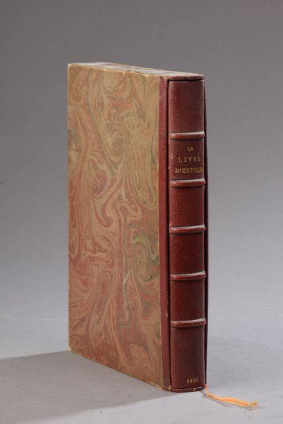 *SCHMIDT Robert, Le livre d'Esther, Paris,...