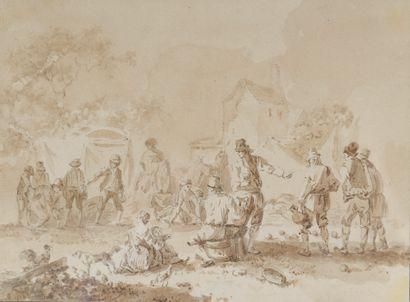École française du XVIIIe siècle. Le jeu...