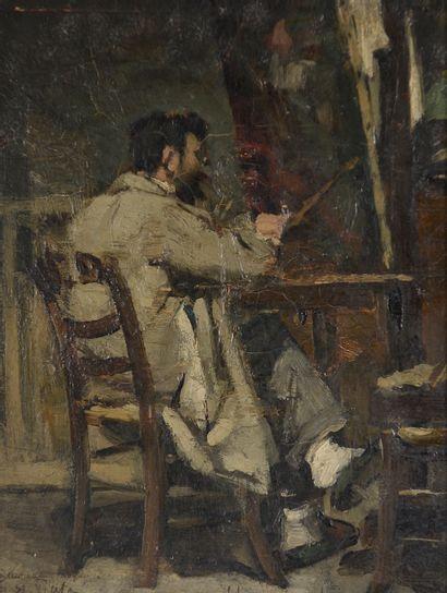 Armand BERTON (1854-1927). Portrait de Lionel...