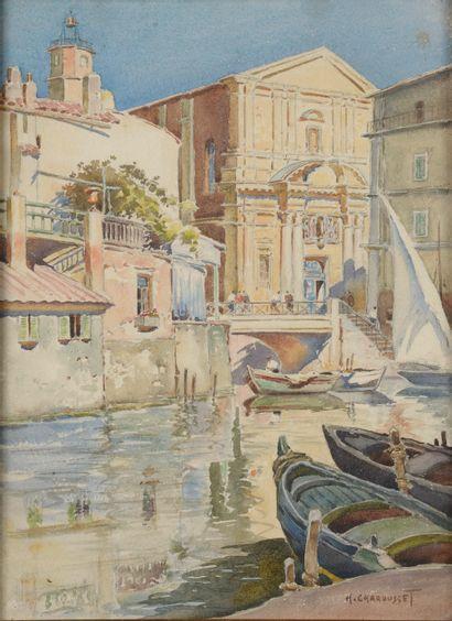 Henri CHAROUSSET (1876-1964). Vue de Venise....