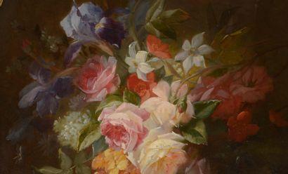 Jules Edouard DIART (1840-1890). Bouquet...