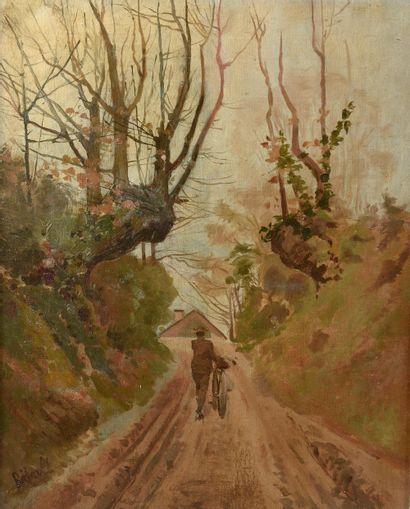 BIDAULT (XIXe-XXe siècle). Le retour du cycliste....