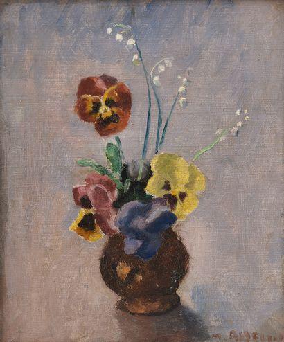 Maurice ASSELIN (1882-1947). Bouquet de pensées....