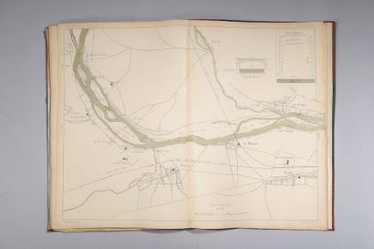 Carte de la rivière de Seine de Paris à Rouen...