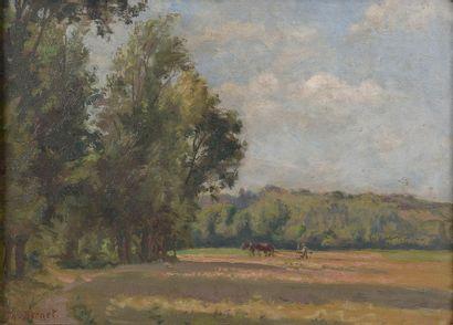 Théophine BERNET (1865-?). Travaux des champs....