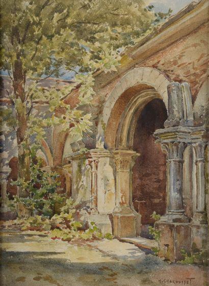Henri CHAROUSSET (1876-1964). Paysage de...