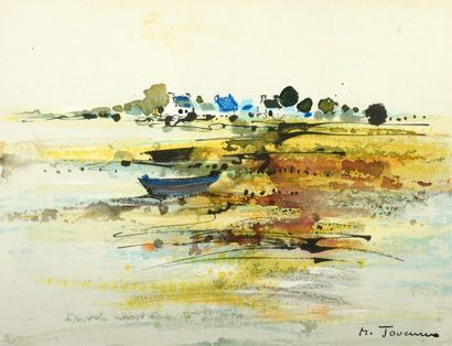 Michel JOUENNE (né en 1933). « Paysage de...