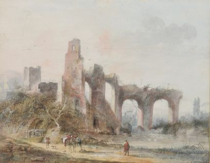 Louis BELANGER (1736-1816). Paysages animés....