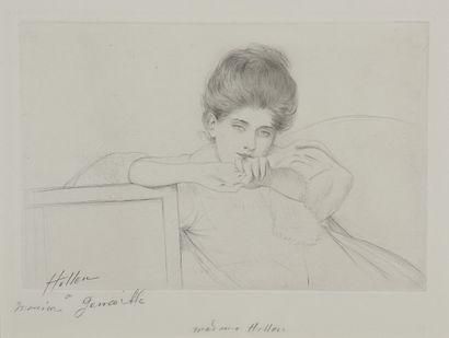 Paul-César HELLEU (1859 - 1927). Alice, étude...