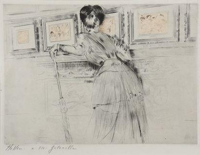Paul-César HELLEU (1859 - 1927). Les Watteau...