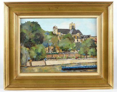 Roland HAMON. Paris, la Seine et l'église...