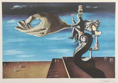 D'après Salvador DALI (1904 - 1989). Homme...