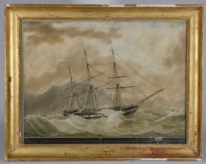 Antoine ROUX (1821-1887). Jason au mouillage...