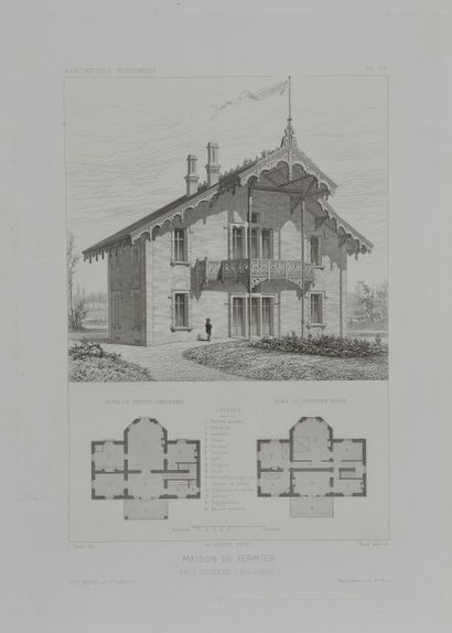 École française du XIXe siècle. Vues d'architecte...
