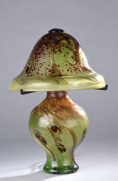 Patrick LEPAGE (né en 1949). Lampe champignon...