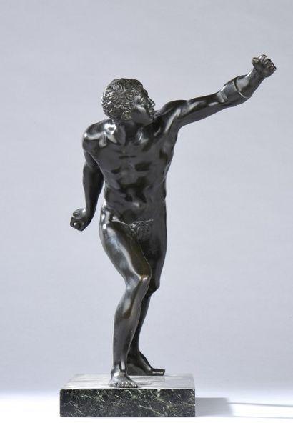 Athlète. Bronze à patine brune