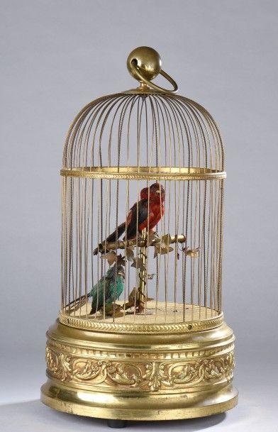 REUGE. Cage à oiseaux chanteurs, XXe siècle....