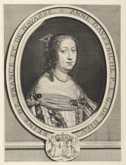 REUNION DE PORTRAITS - Mazarin d'après Mignard...