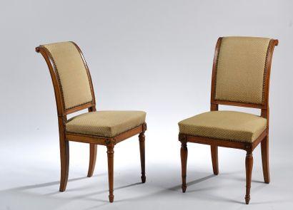 Ensemble de deux chaises et un fauteuil en...