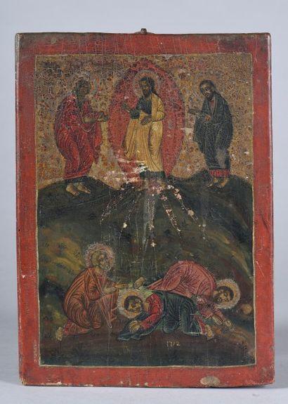 Icône de la Transfiguration. Marquée 1792....