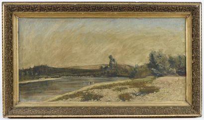 René SEYSSAUD (1867-1952). Lavandière. Huile...