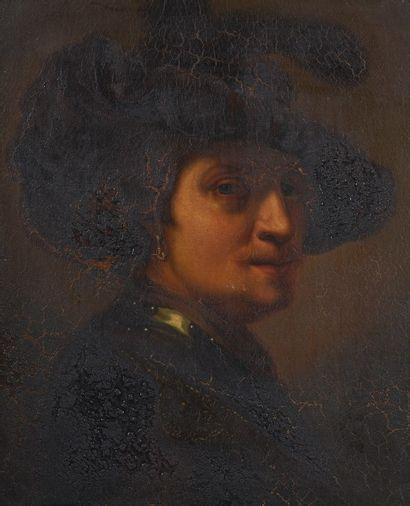 Ecole hollandaise du XIXe siècle. Portrait...