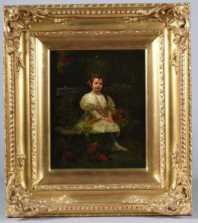 *Leon-Louis LECLAIRE (1829-?) / Fillette...