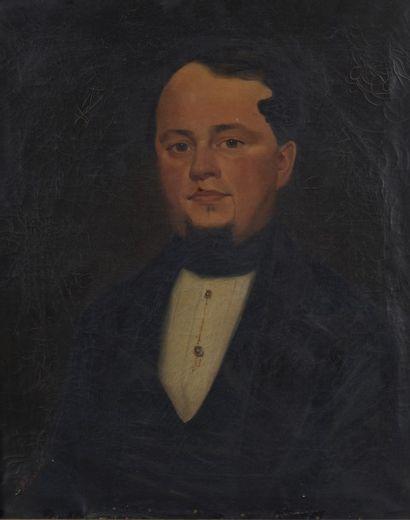 P. BERNARD (XIXème siècle), Portrait d'un...
