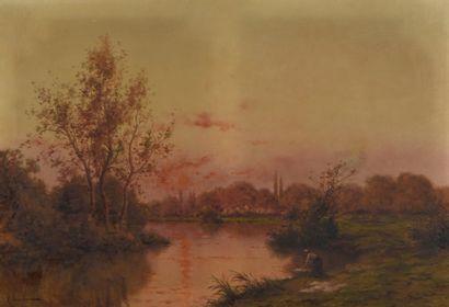 H. SAULIERE (?) (XIXème siècle), Lavandière...