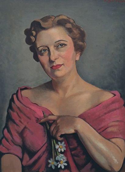 Henryk BERLEWI (1894-1967). Portrait de femme...