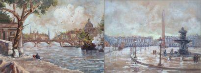 ONIG (XXème siècle), Vues de Paris, deux...
