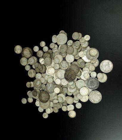 Un ensemble de pièces en argent de 0,5, 1,...