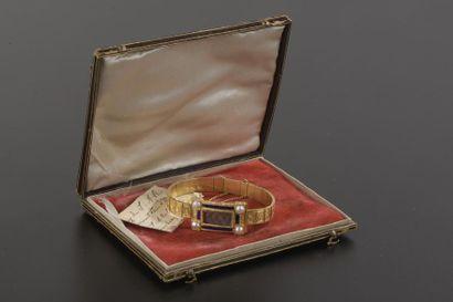 Bracelet en or jaune 18k à petits maillons...
