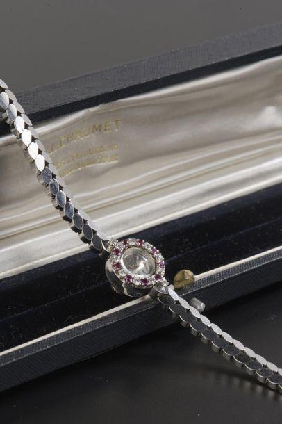 Montre bracelet de dame en or gris 18k, le...