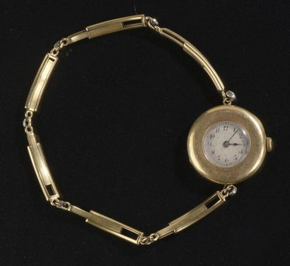 Montre bracelet de dame en or jaune 18k,...