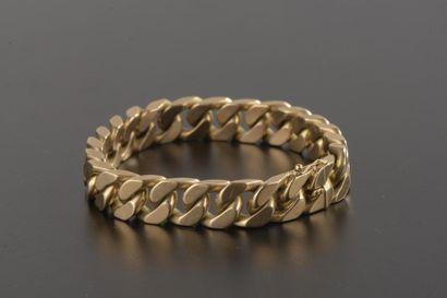 Bracelet gourmette en or jaune 18k. Deuxième...