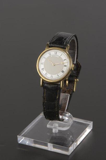 Montre-bracelet en or jaune 18k. Boîtier...