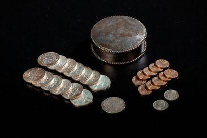 Treize pièces de 50 francs Hercule en argent...