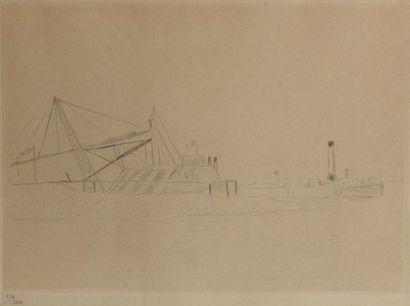 Albert MARQUET (1875-1947). Le Port. Pointe...