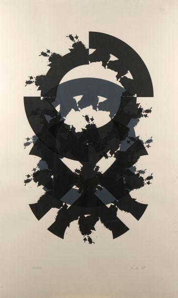 ÉCOLE DU XXe SIÈCLE. Composition abstraite....